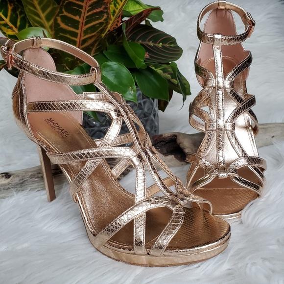 6782ec3ade MICHAEL Michael Kors Shoes | Michael Kors Metallic Platform Sandal ...